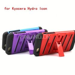 for Kyocera hydro icon C6730 C6725 cell phone case cover with kickstand,high quality phone case for Kyocera hydro icon