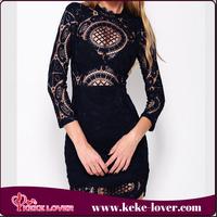 korea new design high quality girls sexy mini dresses fashionable women lace casual dresses long sleeve chiffon dresses