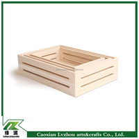 factory wholesale unfinished wood crate box for any size in order