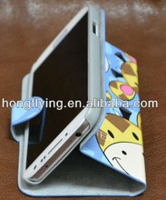 Hot folio cute leather case for Samsung Galaxy S4 Shenzhen OEM manufactuer