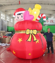 2015 new product 300cm high christmas decoration inflatable/box/can W253