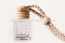 Mini square pedante aroma de perfume vacía botella de vidrio para el coche