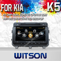 WITSON DVD HEAD UNIT FOR KIA K5 2013 WITH 1.6GHZ FREQUENCY 1080P 1G DDR RAM 8GB A8 DUAL CORE CHIPSET WIFI 3G