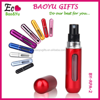 Hot Selling High Quality 5ml Aluminum Refillable Perfume Atomizer