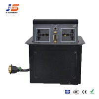 JS-225+ With VGA Pop Up Desk Socket Electrical Outlet Aluminum Table box
