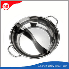Stainless Steel Chafing Pot Two Flavor Soup Pot Chafing Dish Pot
