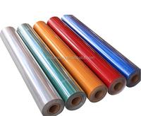 Self adhesive reflective printable sheeting