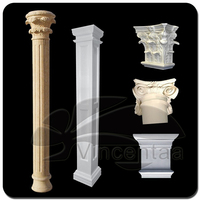 Popular designs Marble Stone Gate Pillar with low price