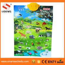 UDENGS China Printing Company Supply Animal Growth Chart Educational Baby Growth Charts