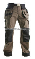 Mens work pant with knee pad/Mens cordura knee pads work pants