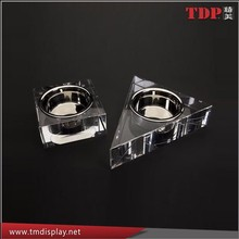 Deluxe cube&triangle plexiglass PMMA Acrylic pet bowl,Dog bowl,Pet Feederers and Waterers