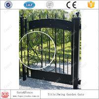 Forged iron metal gate,small iron gate,galvanized iron metal gates designs