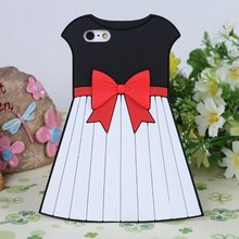 Mobile phone case skirt 3d silicone case for iphone 5, for iphone 5 case silicone cover