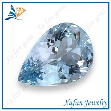 Good quality pear cut aquamarine cz stone