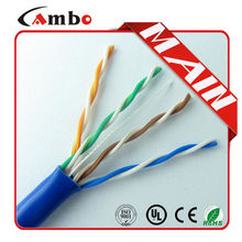 Wholesale China White/Blue PVC Jacket 4 Pair 24AWG BC/CCA/CCS Conductor Twisted Pair high quality network utp cat5e cable