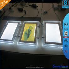 super thin crystal frame light box advertising signage