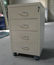 Office metal underdesk 4 drawer cabinet/Anti-tilt mobile pedestal best selling products in dubai