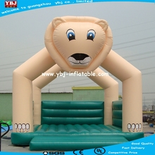 2015 cute lion cartoon Used cheap jumping inflatable bouncers for sale