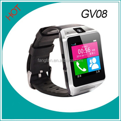 """Android Watch Phone GV08 1.54"""" 1.3M camera Memory card and SIM card slot Pedometer Smartwatch for Android phone"""
