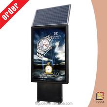 Caliente venta de energía solar solar powered signos con publicidad caja de luz