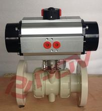 plastic pph pneumatic float valve with limit switch