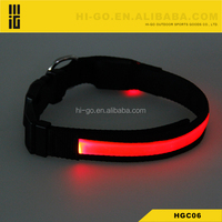 diy braided leather led ligh coach funny pvc glow in the dark designer dog shock collar and leashes