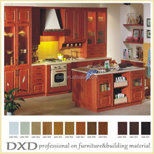 American solid wood kitchen cabinet for small kitchen designs made in China