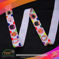 Rich pattern printed polyester ribbon uk