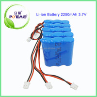 china factory direct sales 3.7v 2250mAh lithium ion battery pack