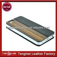 Quality Dark Brown wood leather stand case cover for the Apple iPhone 5/5S/5C,Wholesale case for iphone5S