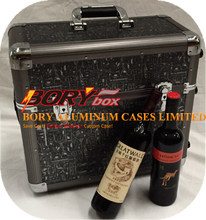 Aluminum gun tool equipment luggage bag hard wine boxes for sale