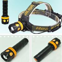 1000 Lumens Waterproof Bicycle Led Headlight,Outdoor Rechargeable LED Fishing Headlamp,Hunting 1XCree XML T6 Led Flashlight Lamp