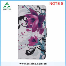 Flora Printed leather case for Samsung Galaxy Note 5, flag wallet leather case for Galaxy Note 5