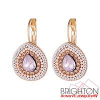 Gold Teardrop Chunky Earrings E4-9826