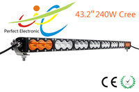 "Amber 43"" 240w single row 10w cree offroad led light bar"