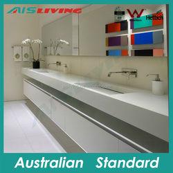 MDF High Gloss PVC cabinet slim Bathroom Vanity