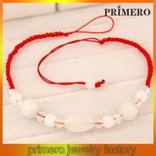 PRIMERO New weaving braided bracelet with charm wholesale fancy red rope handmade Jade Lucky bracelet