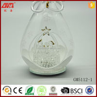 2015 new design factory supplier wholesale light up glass angel