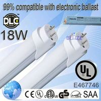 99% compatible with electronic ballasts 1.2m tube8 www red tube com 18w hot coffe tube mascara japanese t8 100-277V UL DLC