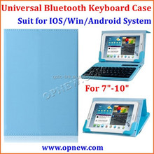 Tablet PC Universal bluetooth keyboard leather case Compatible with Android Win IOS system bluetooth 3.0