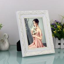 Hechos a mano moldeado marco de fotos de plata espejo adornado de la antigüedad