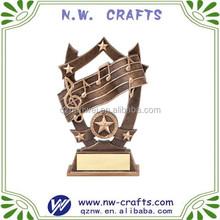 Música estrella resina premios trofeo placa