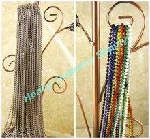 Jewelry Supplies #3/2.4mm Metal Bead Ball Chain