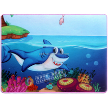 Digital Printed Microfiber Door Mat, customized sublimation floor mat with rubber backing and closed edges