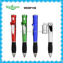 Promotional Plastic Flashlight Ballpoint Pen