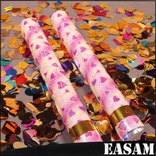Event & Party favor,mix colors heart shape sequins Factory Price Party Poppers
