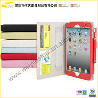 High Quality Smart Shock Waterproof Colorful Universal Design Tablet pc Case With Leather Material Pen And Card Holder