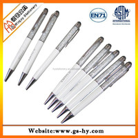 Promotional custom metal gift pen with acrylic crystal