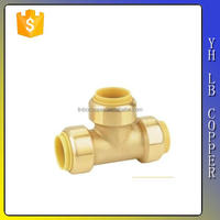 size 1/8 1/4 3/8 1/2 brass mini equal reducing tee 45 degree pipe fitting lateral tee copper tee fittings T and cross