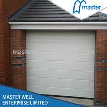 Blue steel garage door jamb with PU foamed